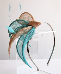 A matching fascinator for the evening