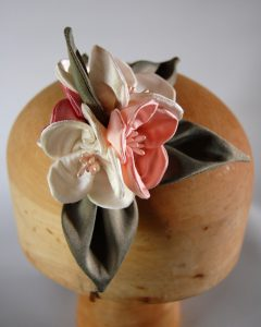 Silk handmade flowers and leaves