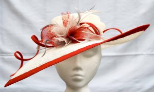 Nicknamed 'Strawberries and Cream' I loved this hat's swept brim and simple colour scheme
