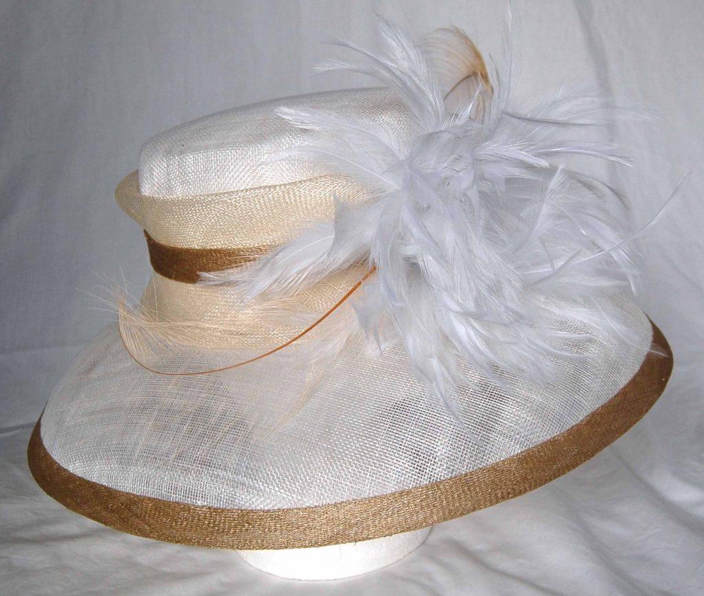 64f84a86afecc Neutral Wedding Hats - Parchment N Lead