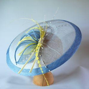 In addition a matching fascinator was created