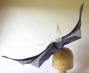 Origami form with sail detail
